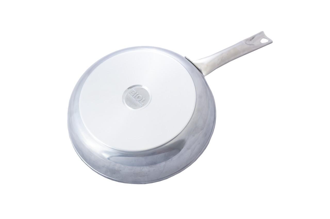 Сковорода антипригарная Биол - 280 мм, с нерж ручкой