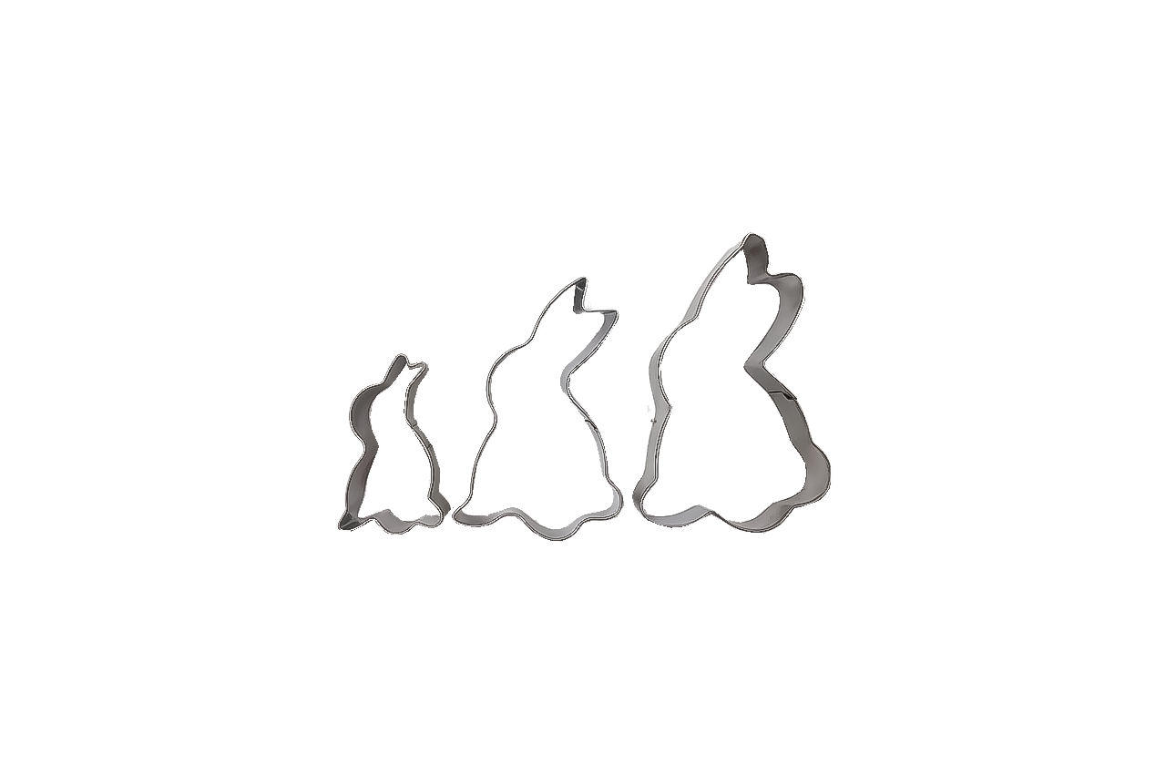 Набор форм для печенья Empire - кролик (3 шт.)