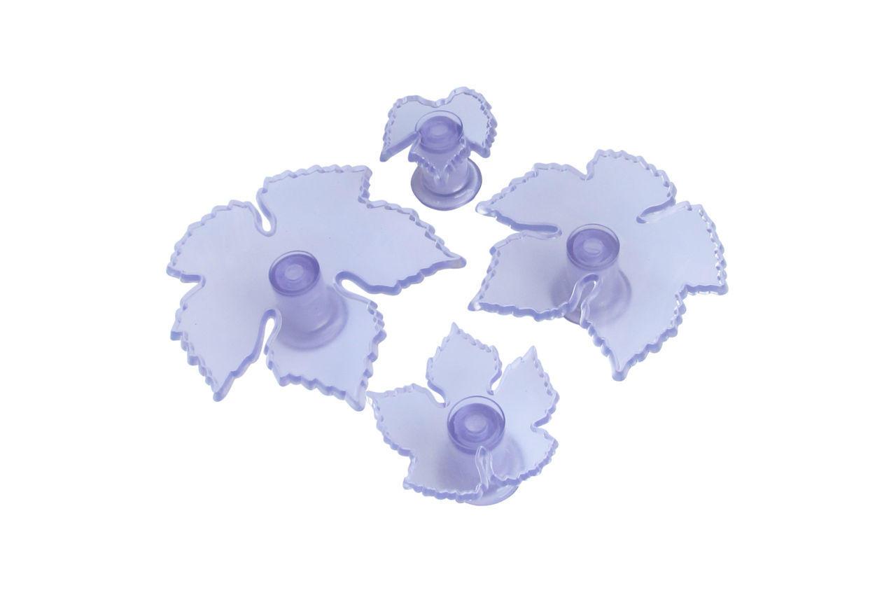 Выемка для мастики Empire - виноградные листья (4 шт.), 8655