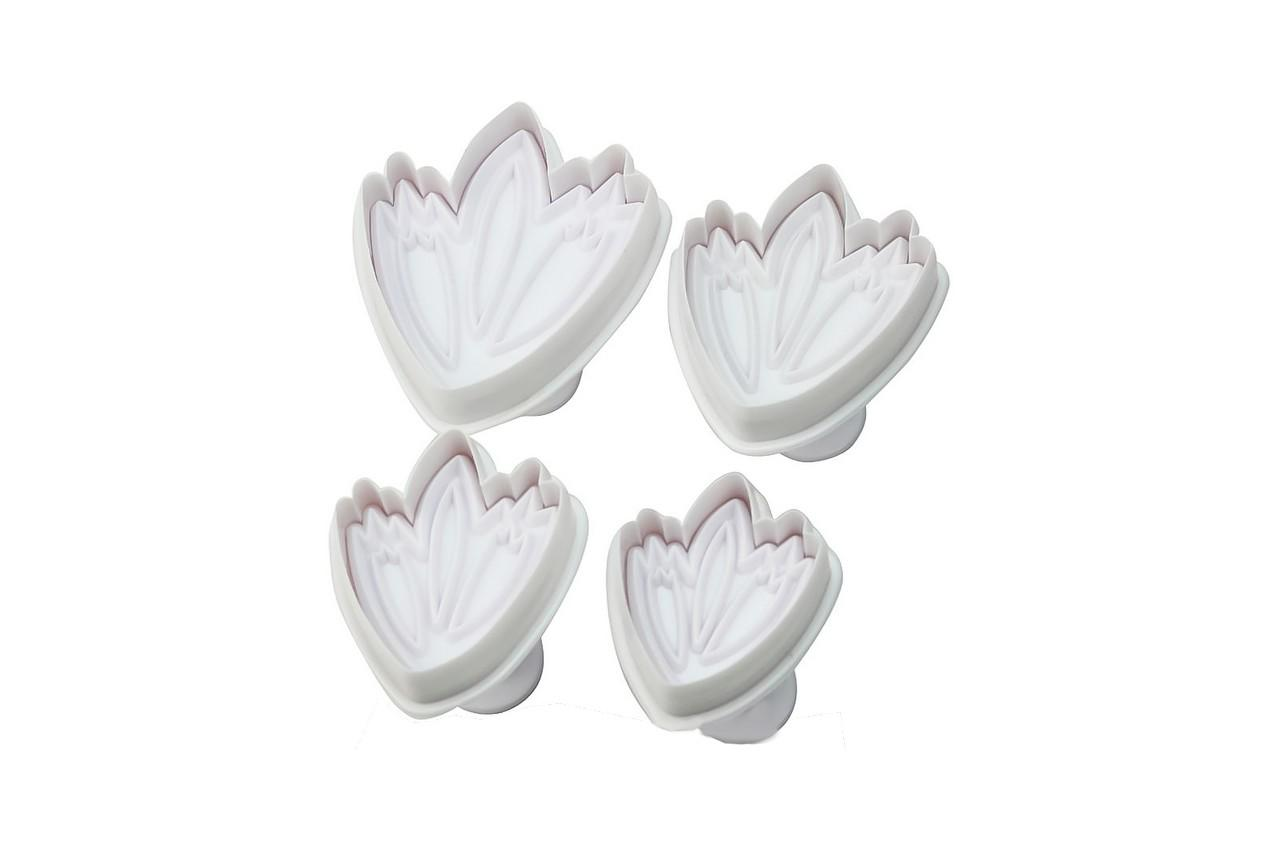 Плунжер для мастики Empire - тюльпан (4 шт.), 8600