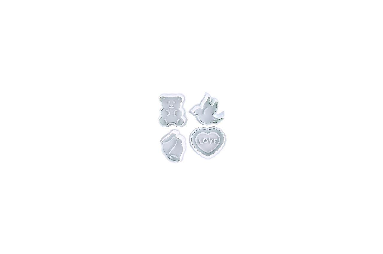 Плунжер для мастики Empire - валентинка (4 шт.)