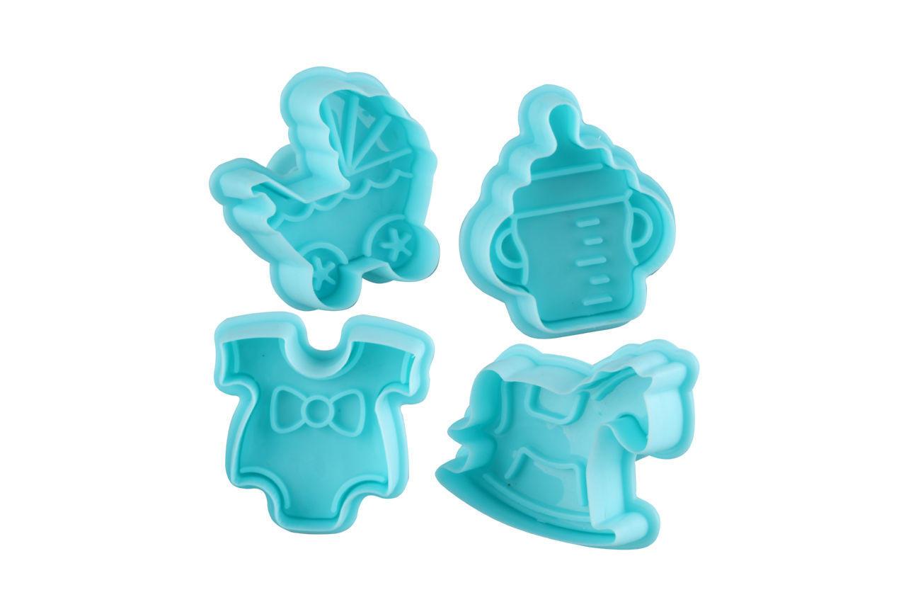 Плунжер для мастики Empire - детский цветной (4 шт.)