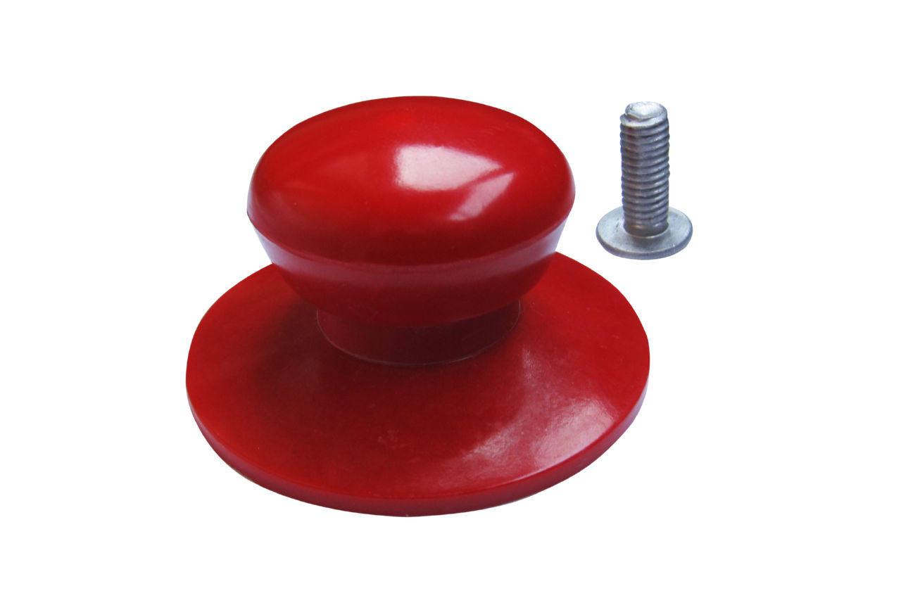 Ручка для крышки Empire - 35 мм, эбонитовая красная