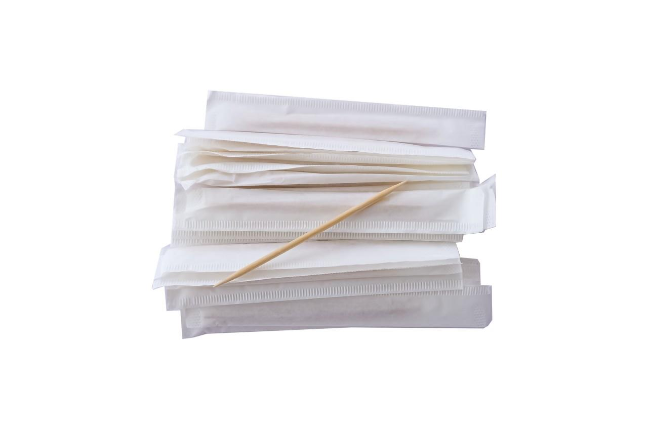 Зубочистка бамбуковая Empire - 65 мм, двухсторонняя пакет (1000 шт.)