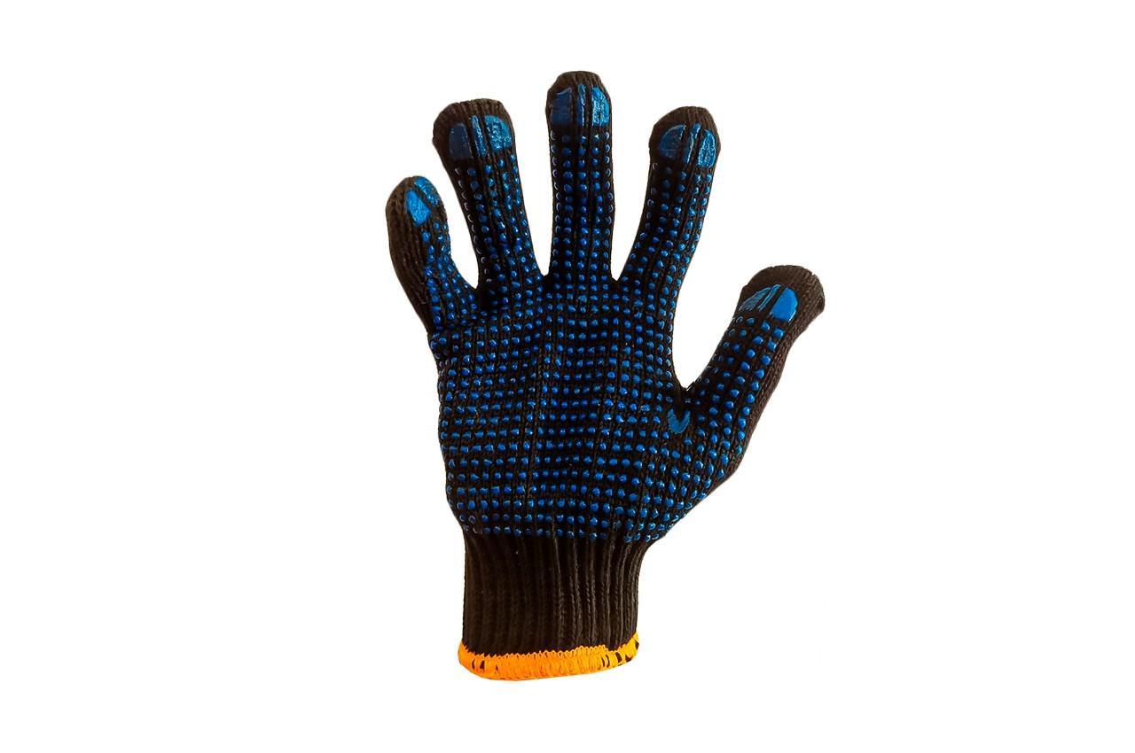 """Перчатки Mastertool - х/б с точкой 83г черные 10"""" 10 шт."""