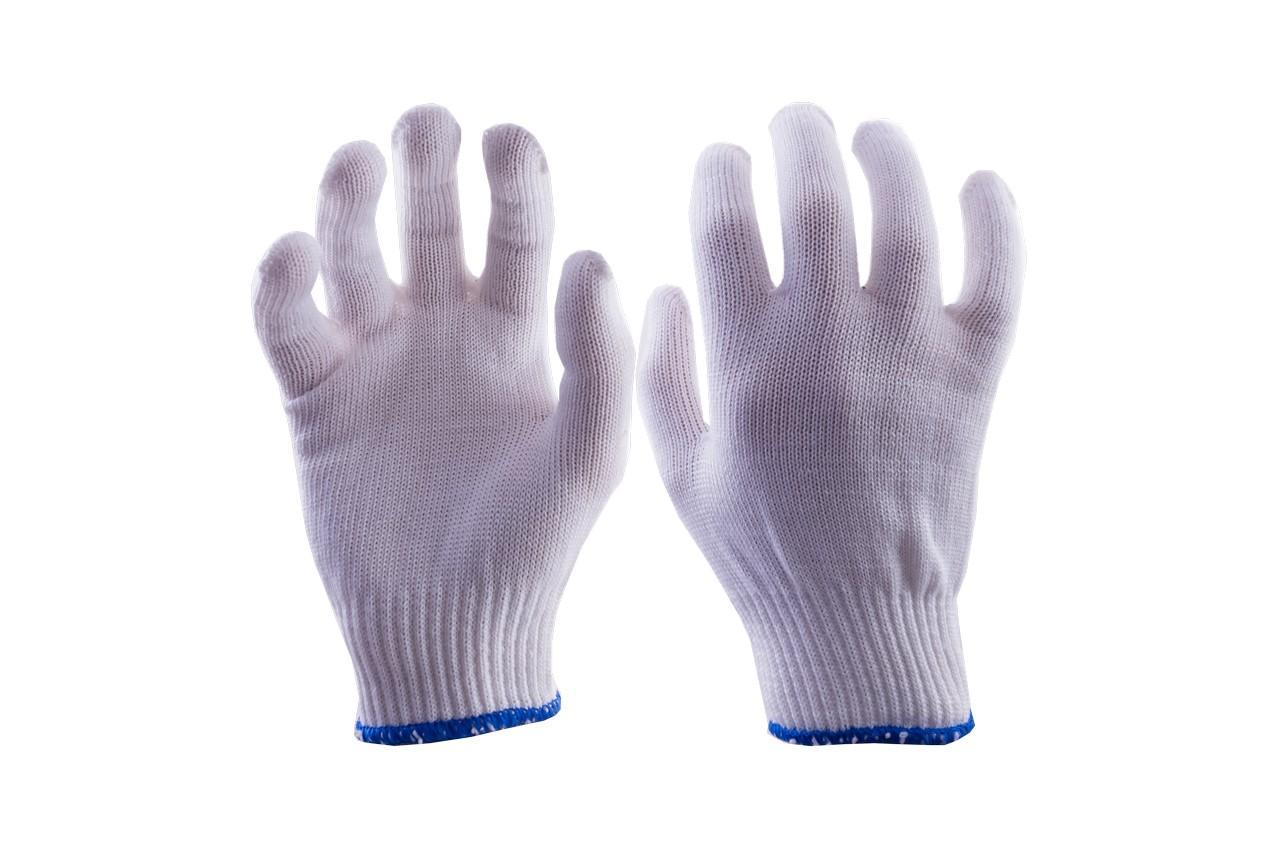 """Перчатки Mastertool - х/б без точки 16г белые 10"""" 10 шт."""