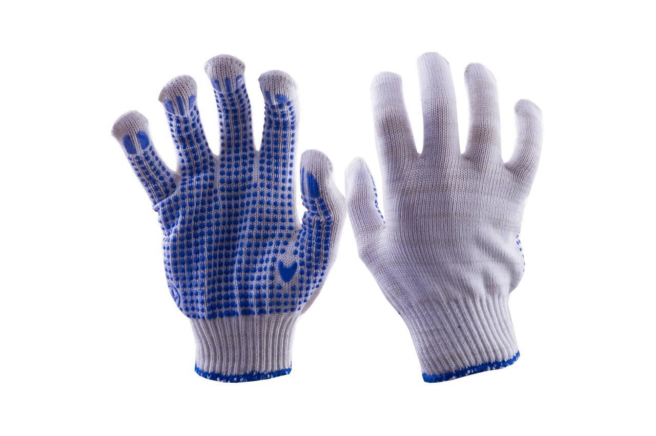 "Перчатки Mastertool - х/б с точкой 21г белые 10"" 10 шт."