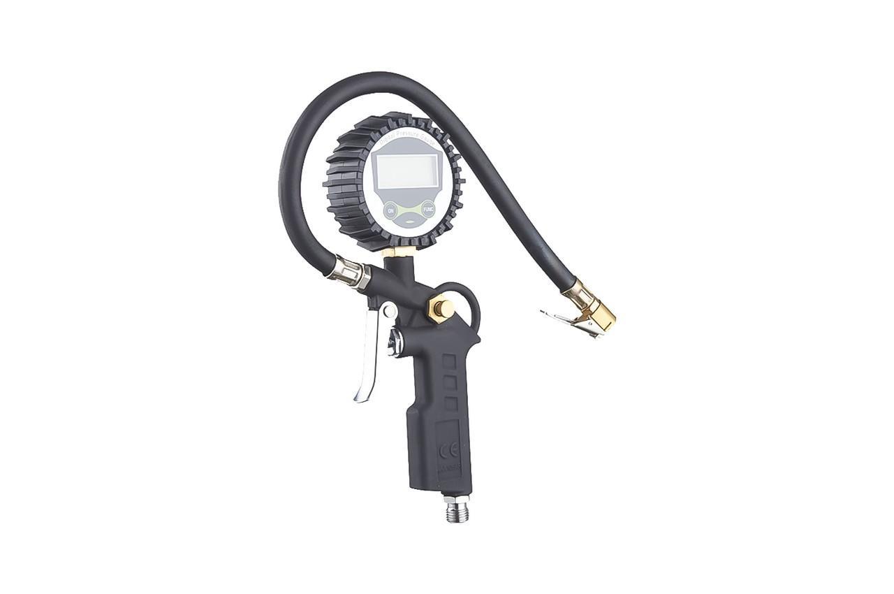 Пневмопистолет для подкачки колес Mastertool - 12bar с цифровым манометром
