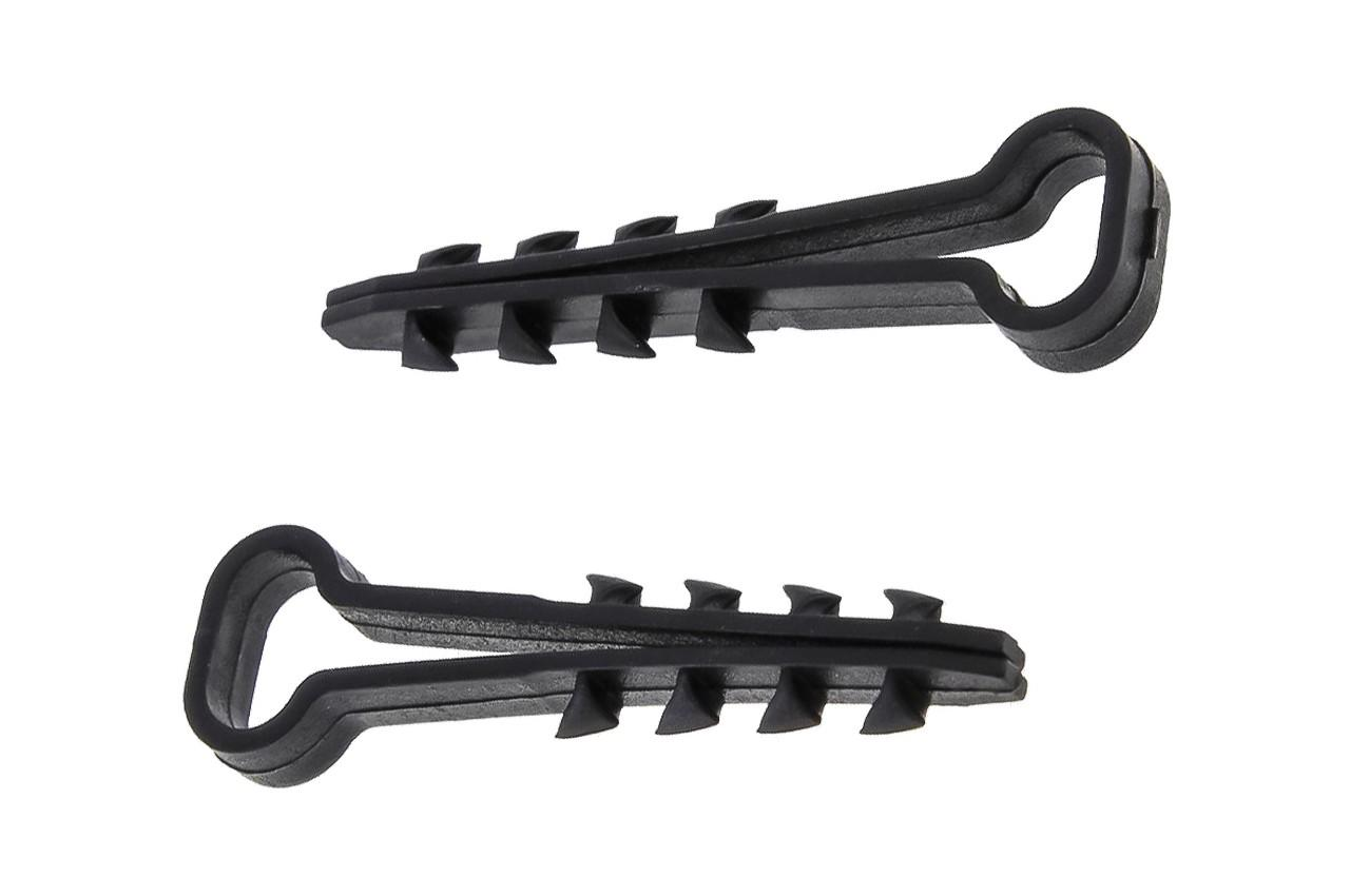 Дюбель-елочка Apro - 14 x 6 мм, плоская черная (100 шт.)