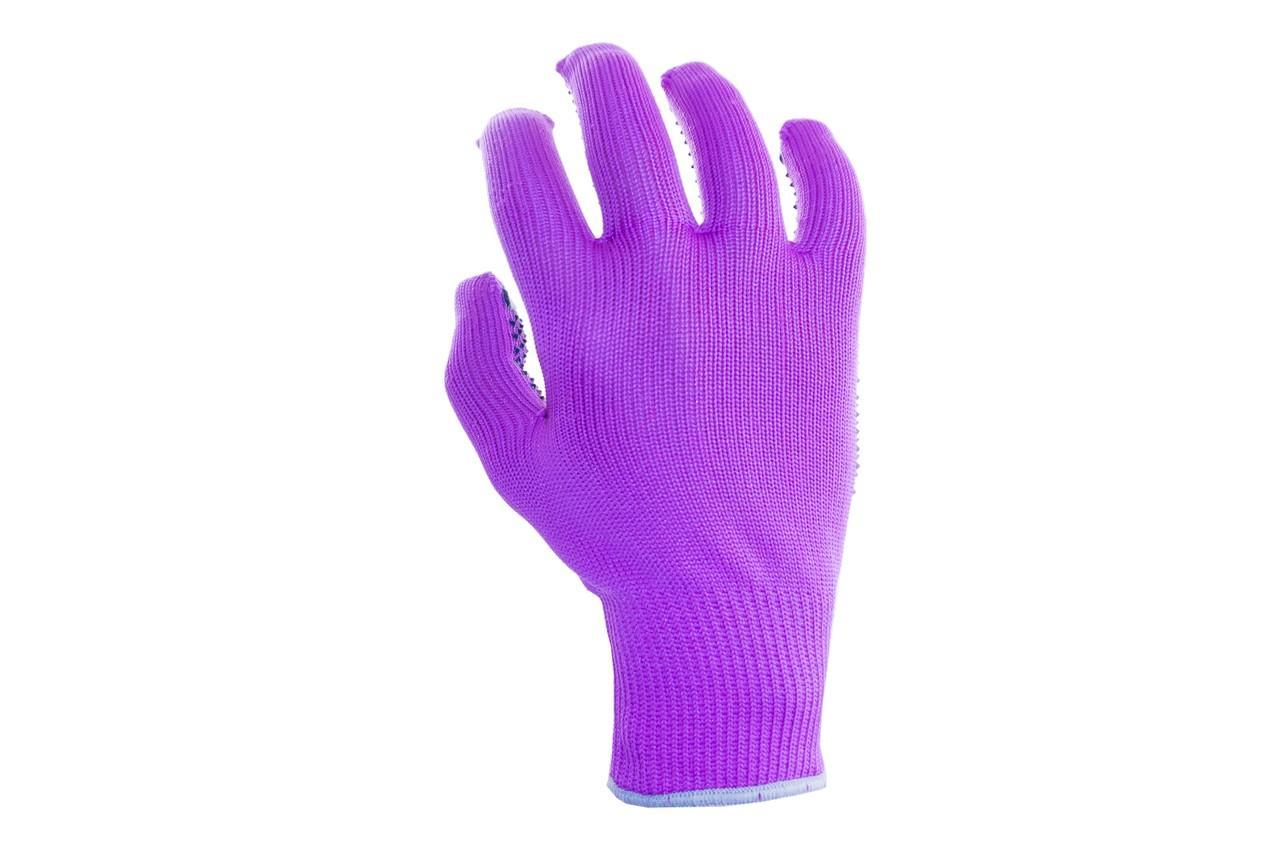 """Перчатки PRC - синтетика цветная с точкой 8"""" 12 шт."""