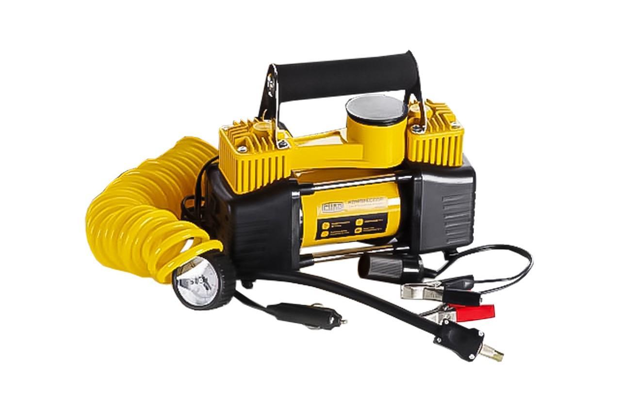 Миникомпрессор автомобильный Сила - 10 bar x 85 л/мин двухпоршневой кейс