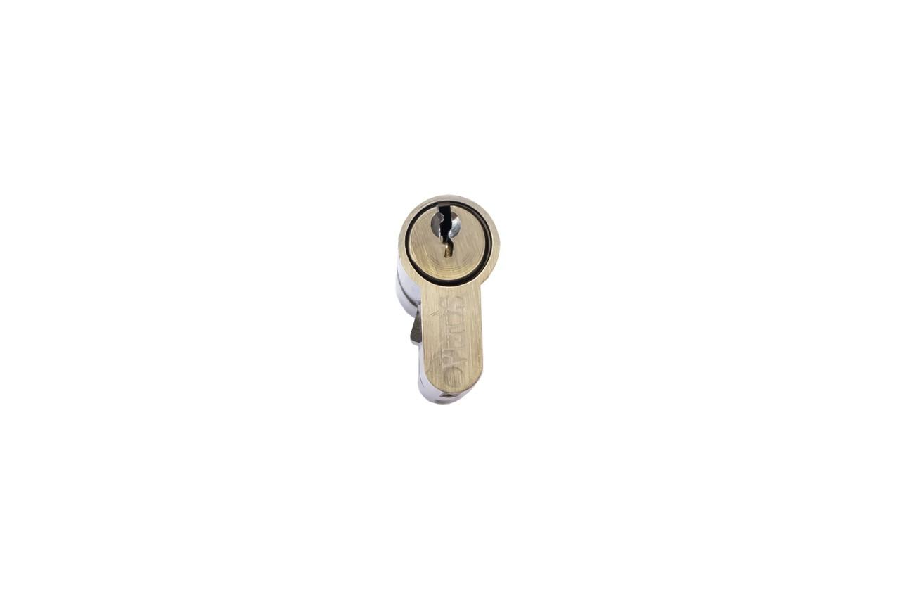 Цилиндр английский FZB - 60 мм 30/30 к/к AB (цинк)
