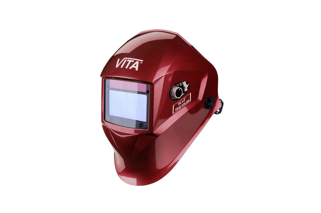 Маска сварочная Vita - TIG 3-A TrueColor, красная