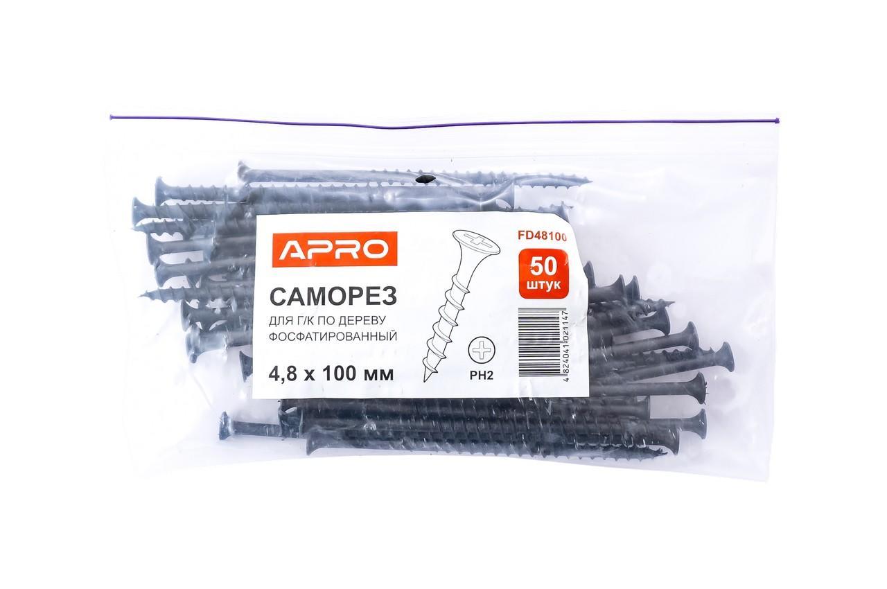 Саморез по дереву Apro - 4,8 x 102 мм (50 шт.)