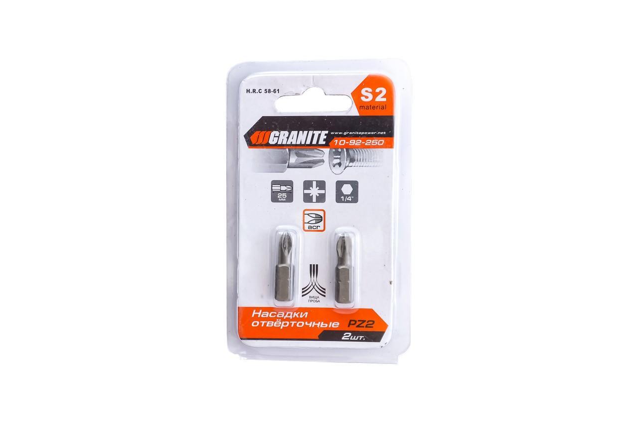 Бита Granite - PZ2 x 25 мм (2 шт.)