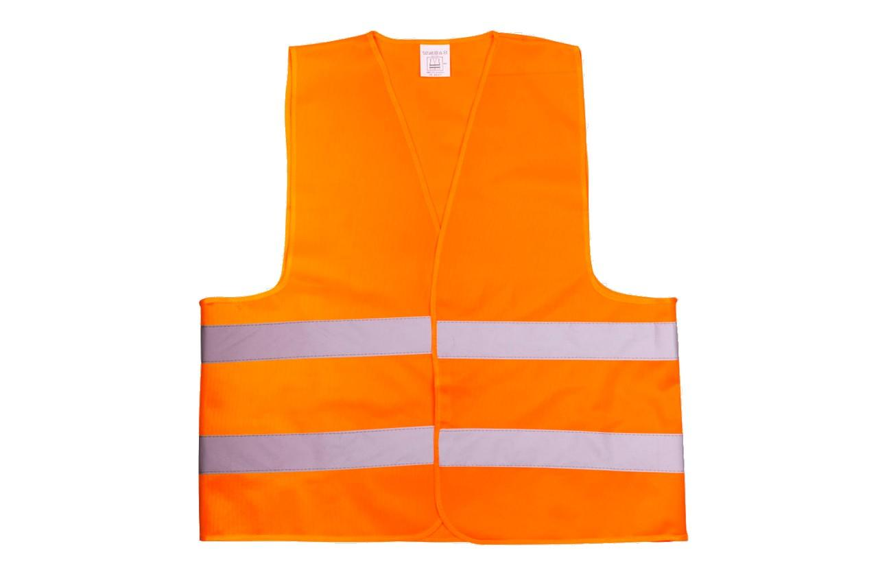 Жилет светоотражающий Vita - 4XL оранжевый 120 г/м²
