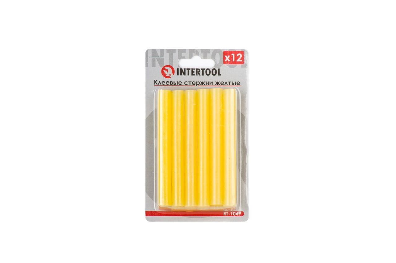 Клеевые стержни Intertool - 11,2 x 100 мм, желтые (12 шт.)