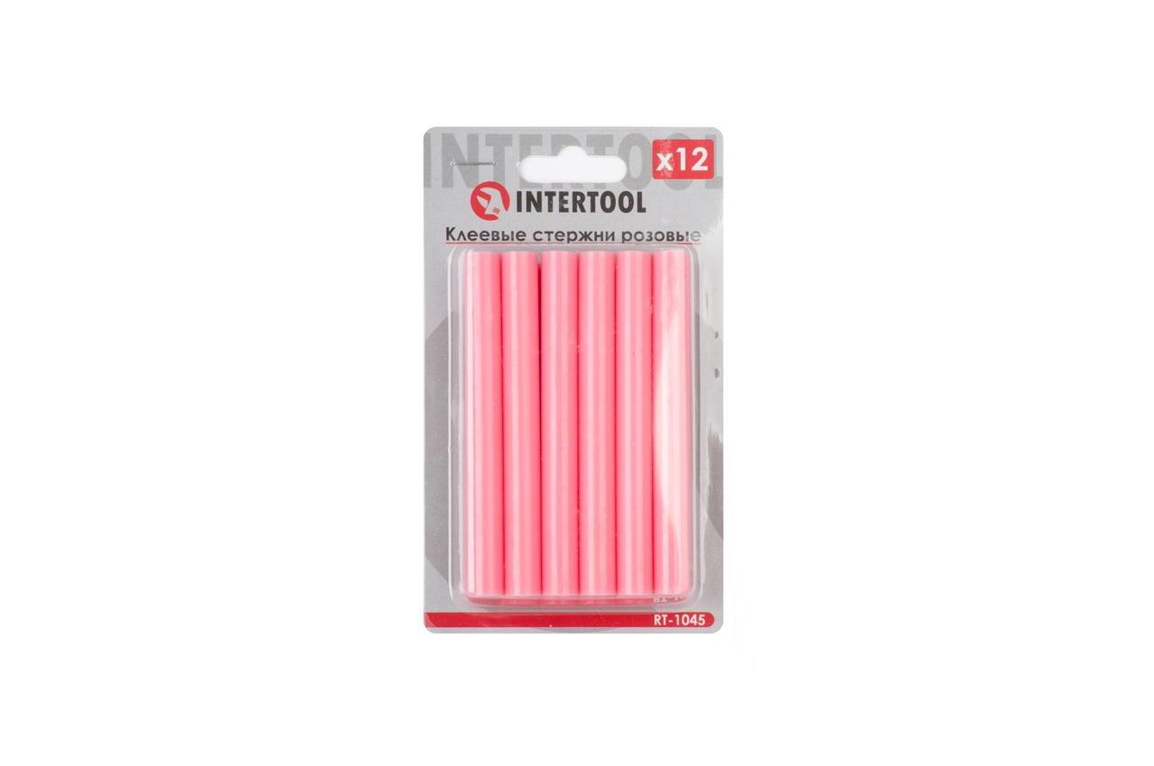 Клеевые стержни Intertool - 11,2 x 100 мм, розовые (12 шт.)