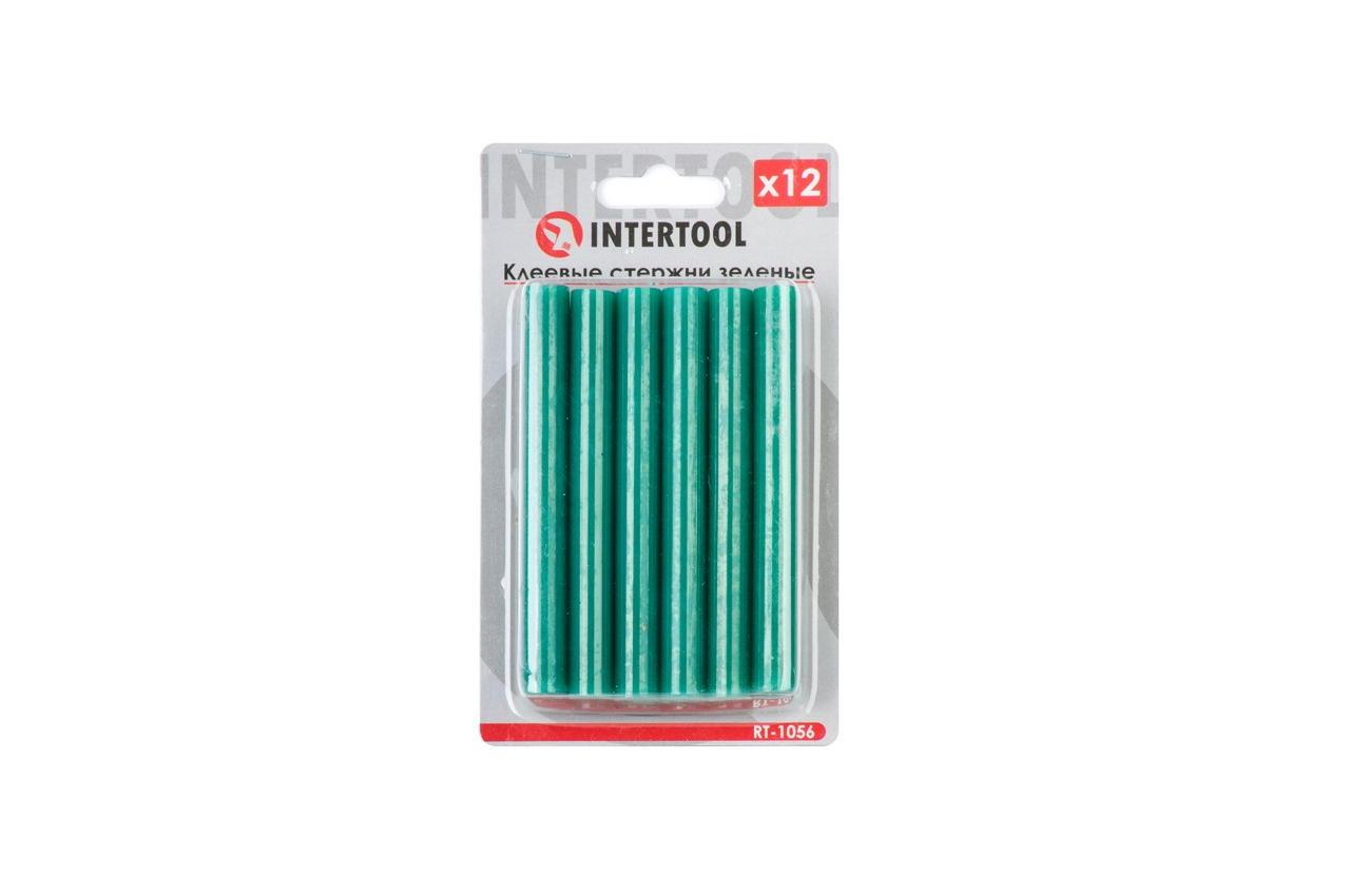 Клеевые стержни Intertool - 11,2 x 100 мм, зеленые (12 шт.)