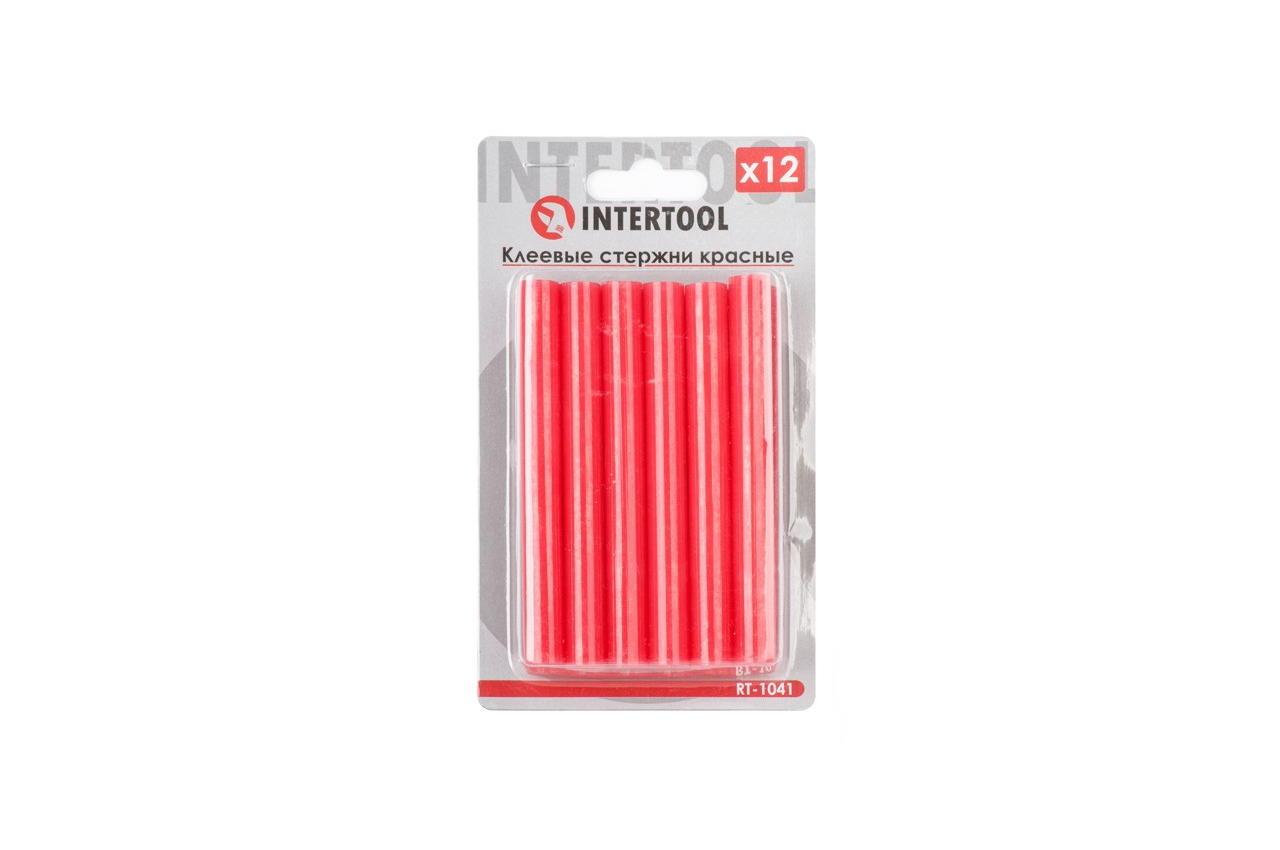 Клеевые стержни Intertool - 11,2 x 100 мм, красные (12 шт.)