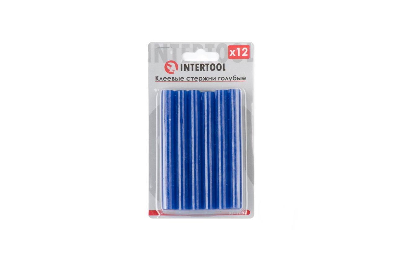 Клеевые стержни Intertool - 7,4 x 100 мм, голубые (12 шт.)