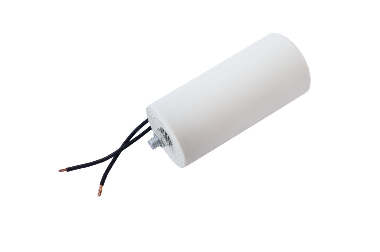 Конденсатор CBB60 Асеса - 20 мкФ x 450В, провод+болт