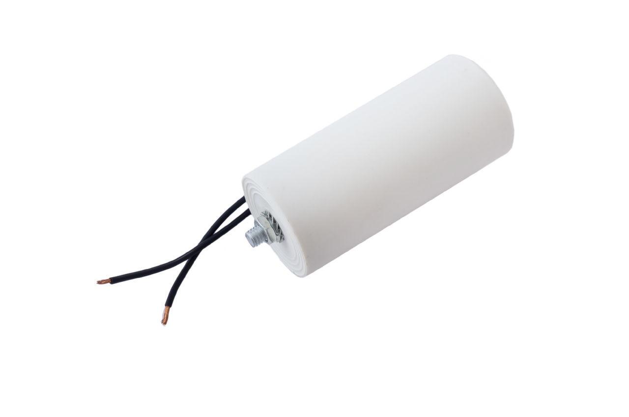 Конденсатор CBB60 Асеса - 100 мкФ x 450В, провод+болт