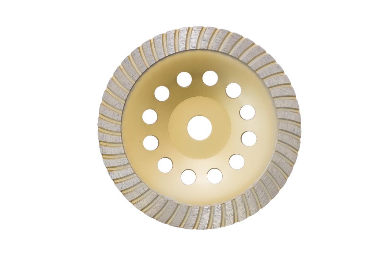 Чашка алмазная Асеса - 180 x 22,2 мм турбо желтая