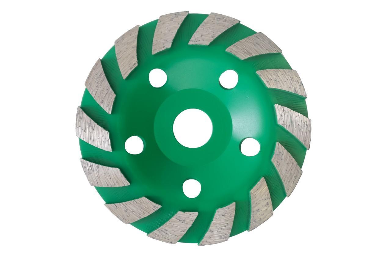 Чашка алмазная Асеса - 125 x 22,2 мм турбо зеленая