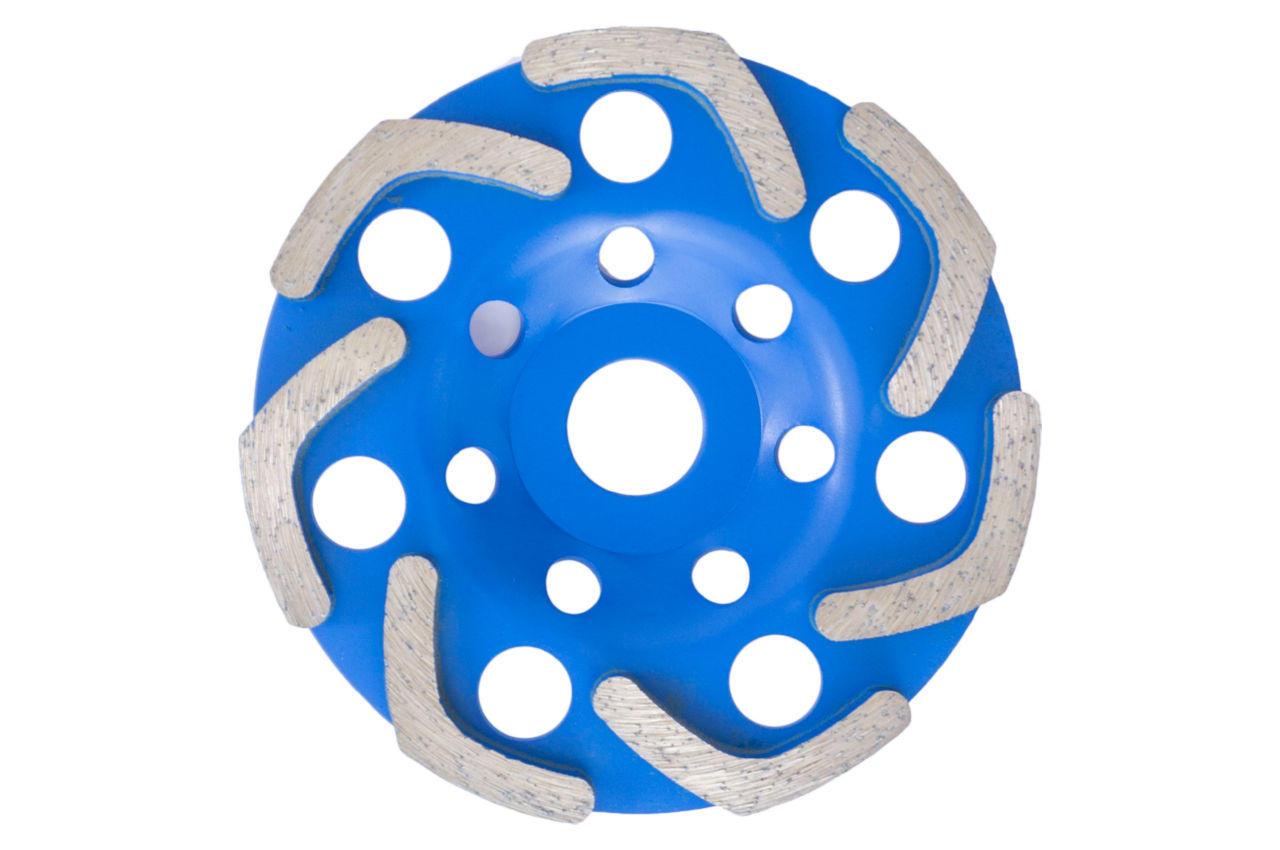 Чашка алмазная Асеса - 125 x 22,2 мм V синяя