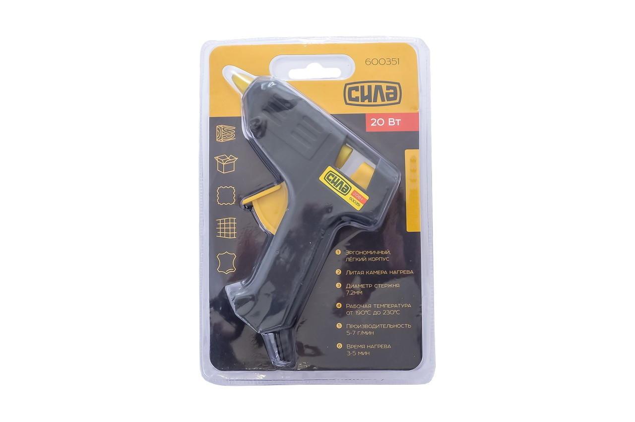 Пистолет клеевой Сила - 7,2 мм x 20 Вт