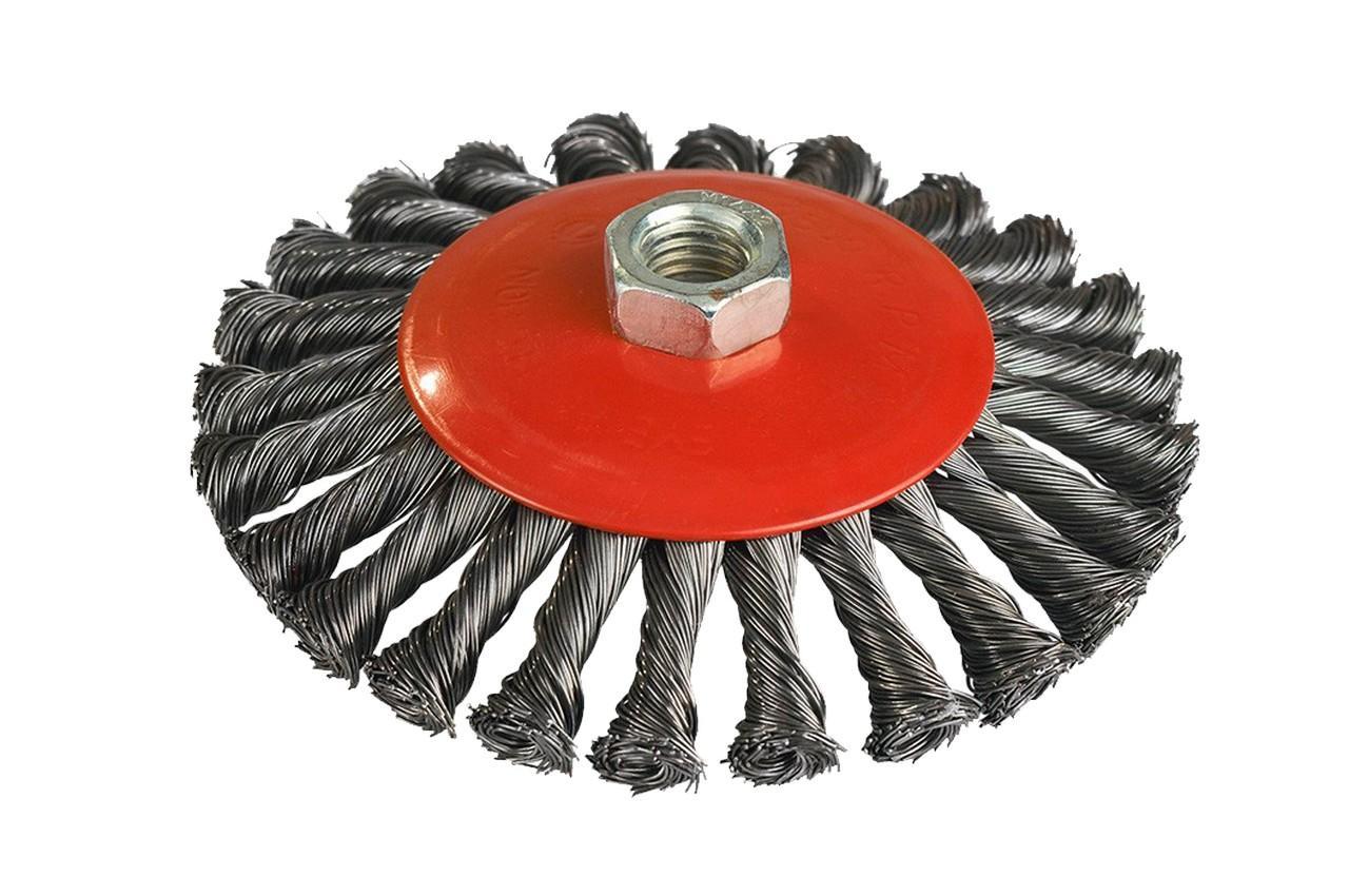 Щетка конусная Miol - 100 мм плетеная