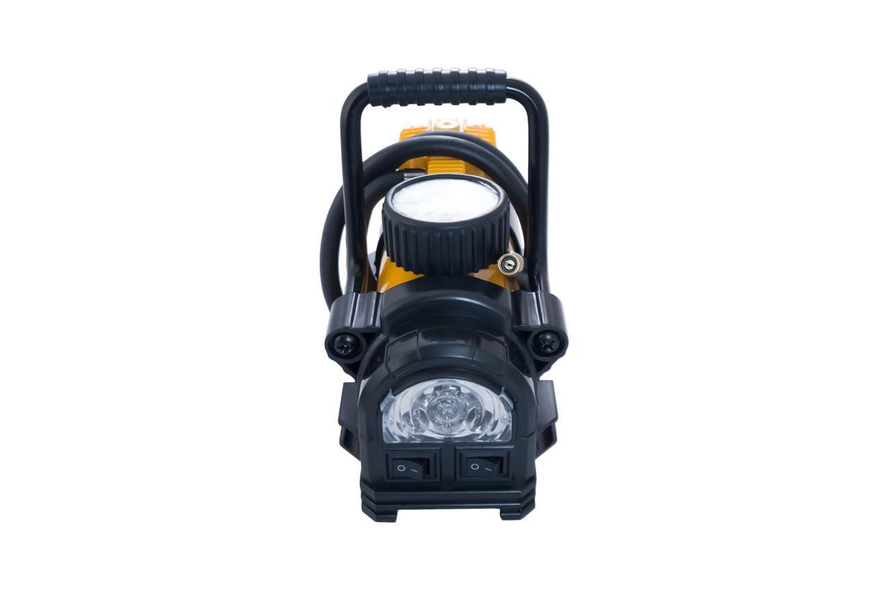 Миникомпрессор автомобильный Сила - 7 атм x 37 л/мин однопоршневой с фонариком
