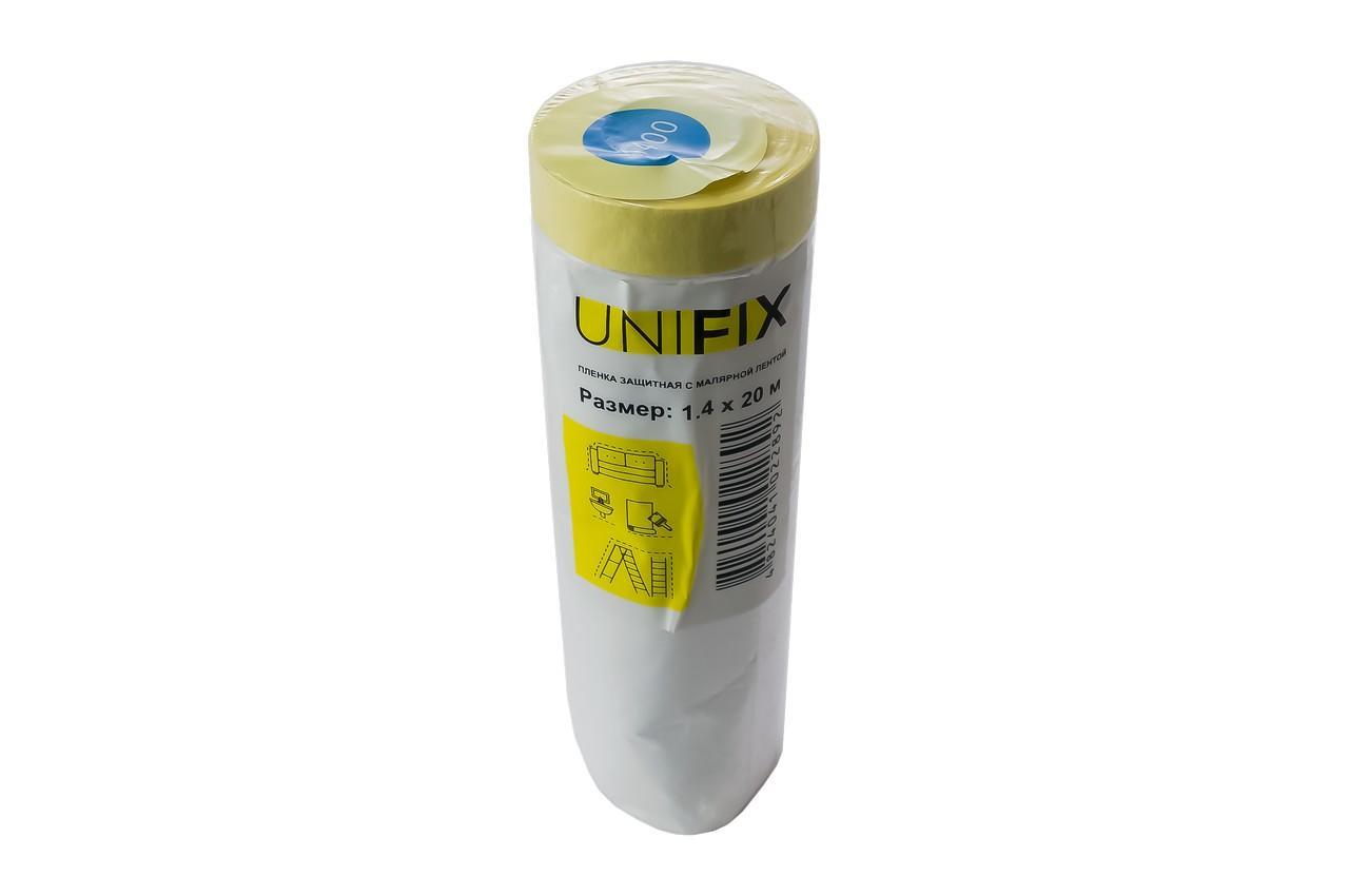 Пленка защитная с малярной лентой Unifix - 1,4 х 20 м