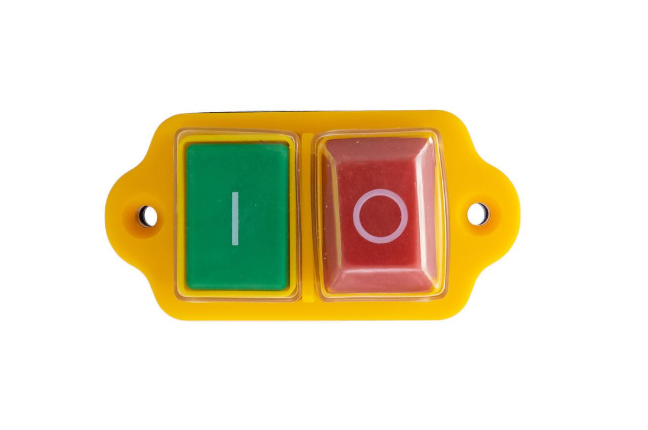 Кнопка бетономешалки Асеса - 5 контактов желтая
