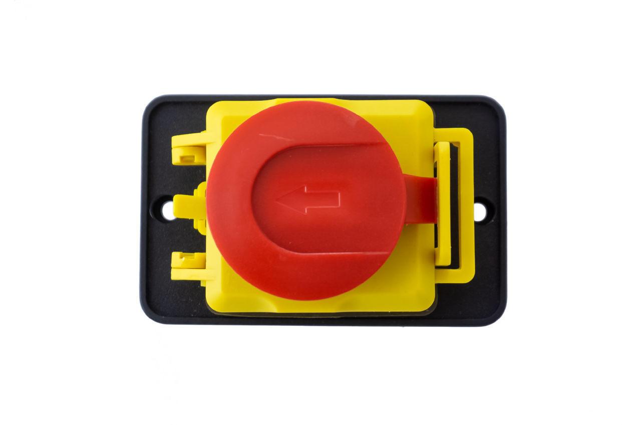 Кнопка бетономешалки Асеса - 5 контактов с крышкой