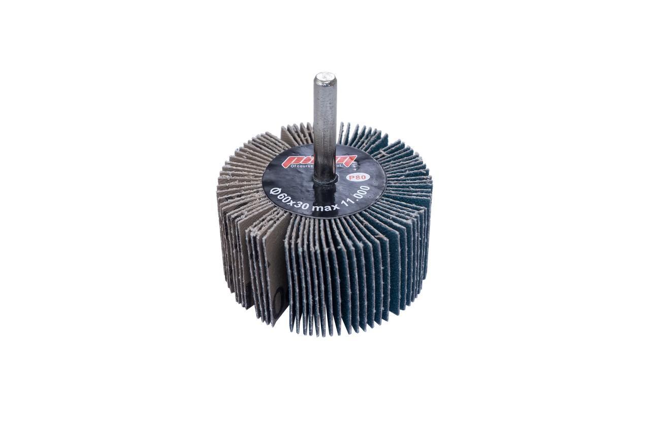Круг лепестковый в оправке Pilim - 40 x 30 мм x Р80 цирконий