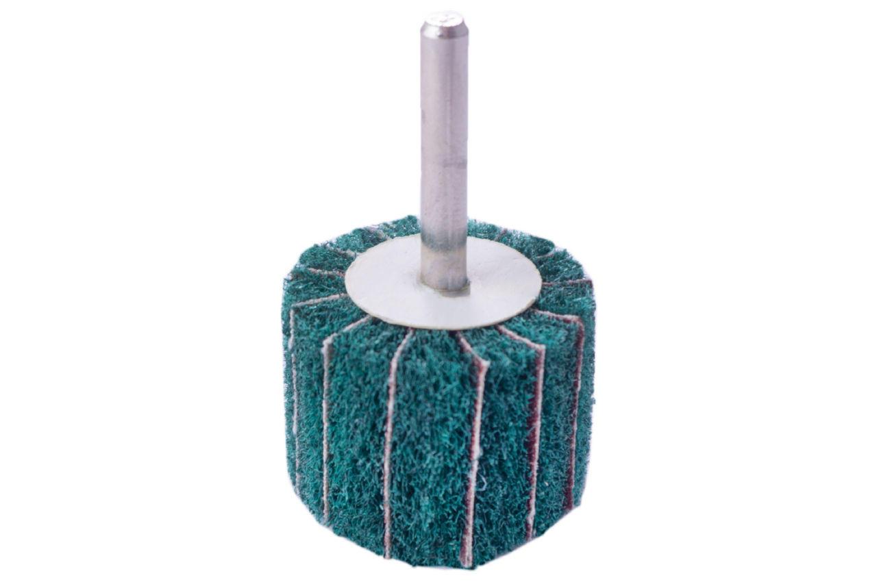 Круг лепестковый в оправке Pilim - 40 x 30 мм x Р180 скотч-брайт зеленый