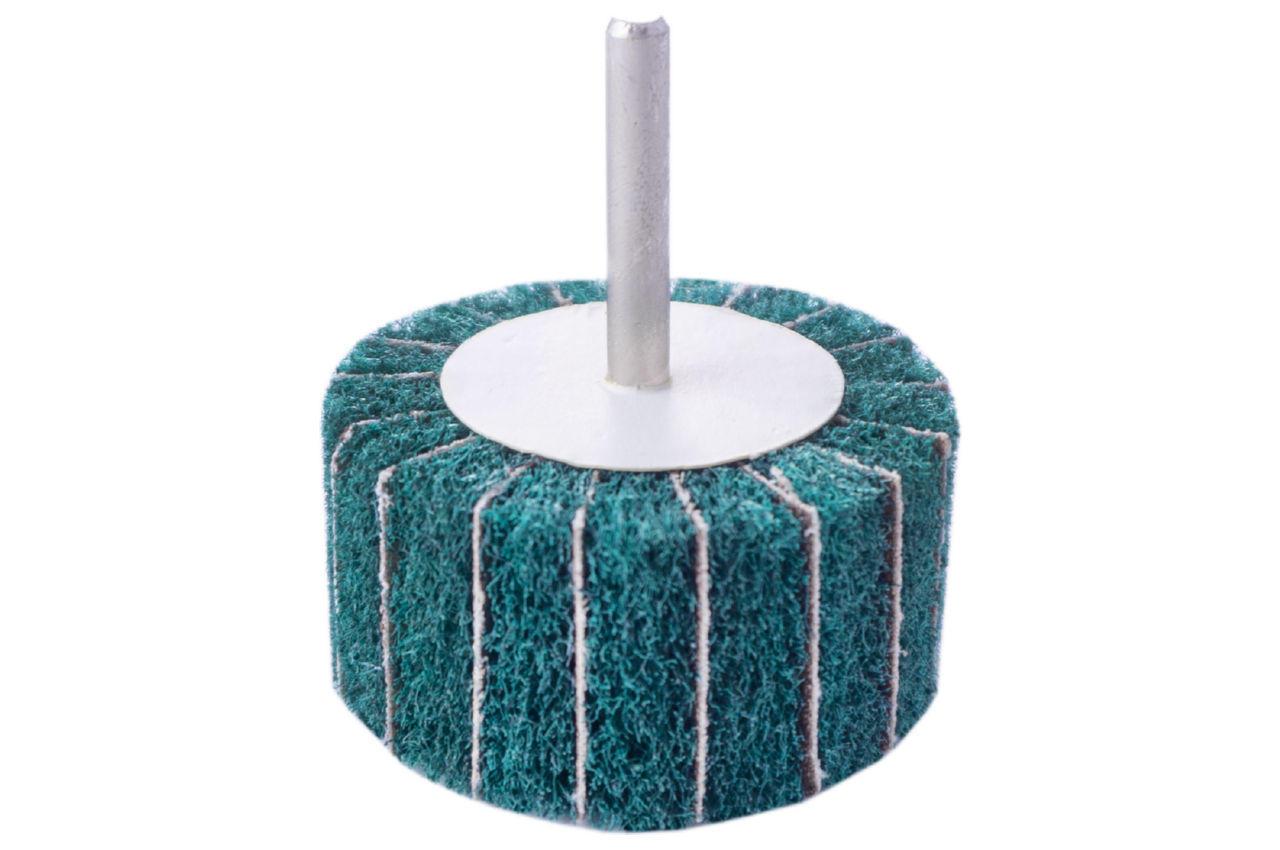Круг лепестковый в оправке Pilim - 60 x 30 мм x Р180 скотч-брайт зеленый