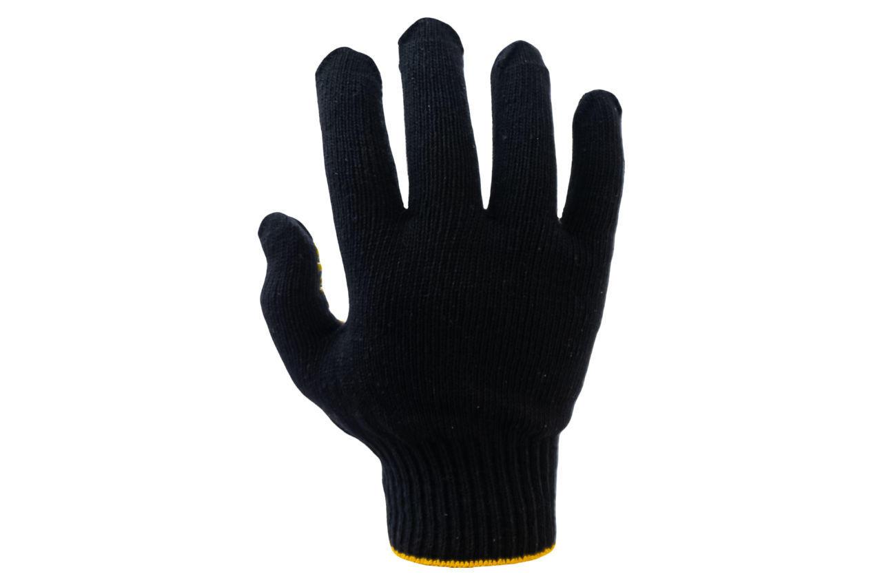 Перчатки Intertool - 60/40 с точкой 90г черные 10