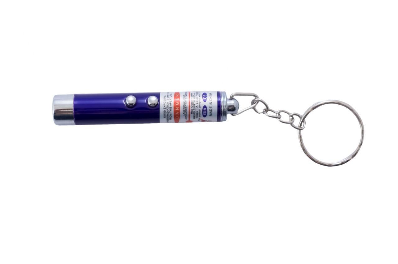 Брелок фонарик-лазер Wimpex - 2-в-1