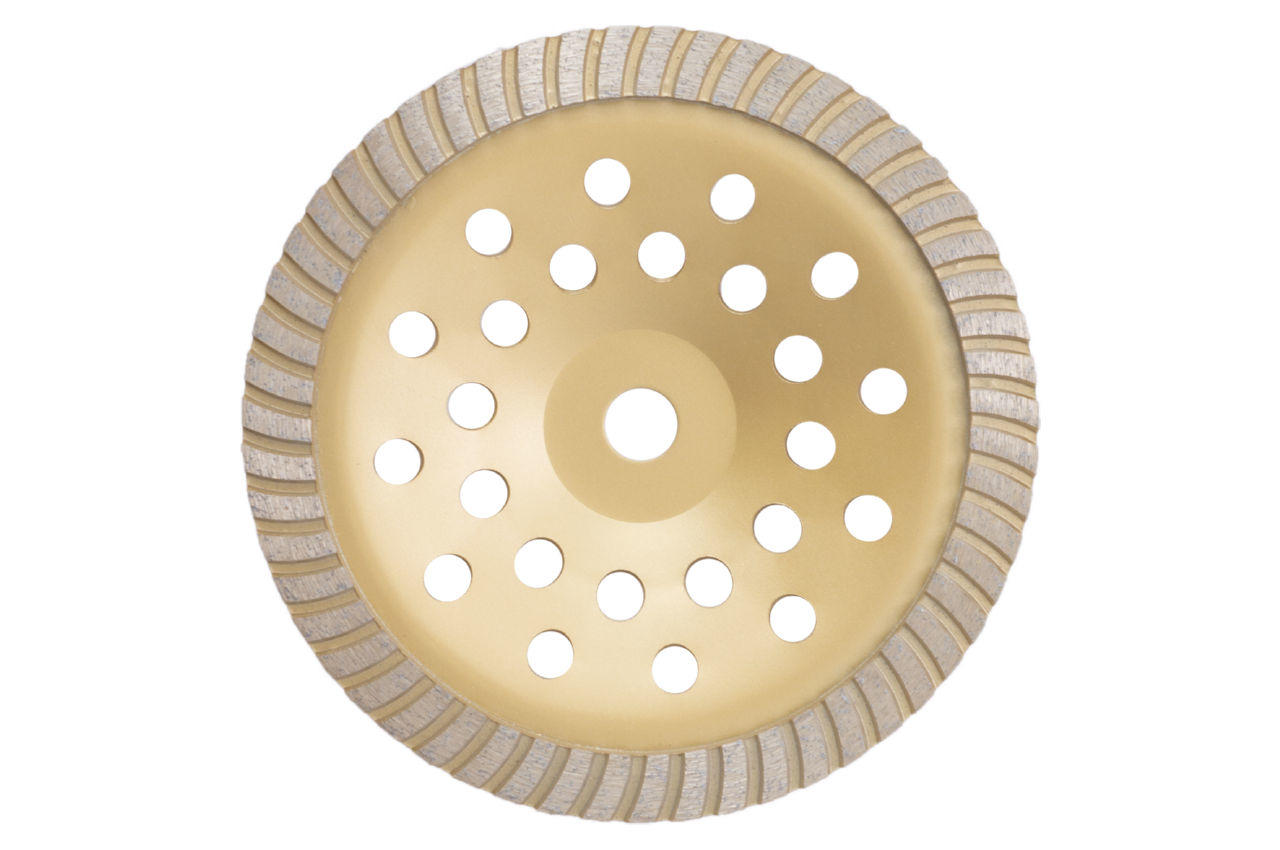 Чашка алмазная Асеса - 230 x 22,2 мм турбо желтая