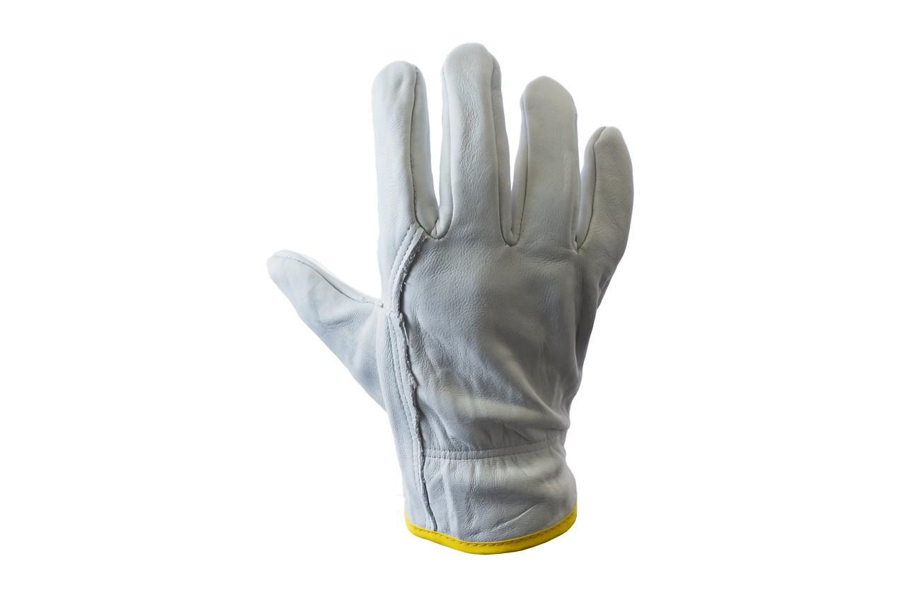 """Перчатки PRC - 10"""" кожаная серая"""