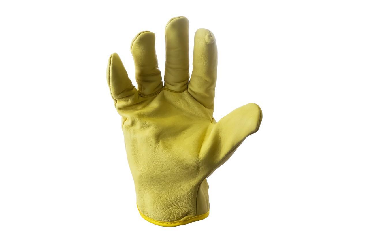 "Перчатки PRC - 10"" кожаная желтая"