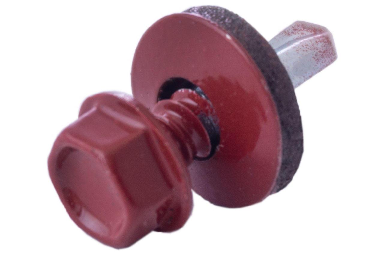 Саморез кровельный Apro - 4,8 x 19 мм RAL 3011 (50 шт.)