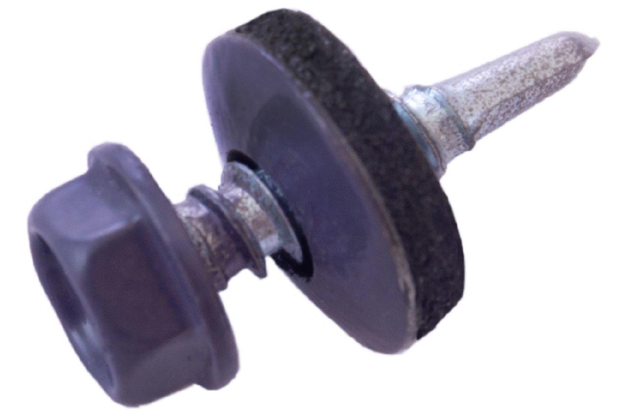 Саморез кровельный Apro - 4,8 x 19 мм RAL 7024 (50 шт.)