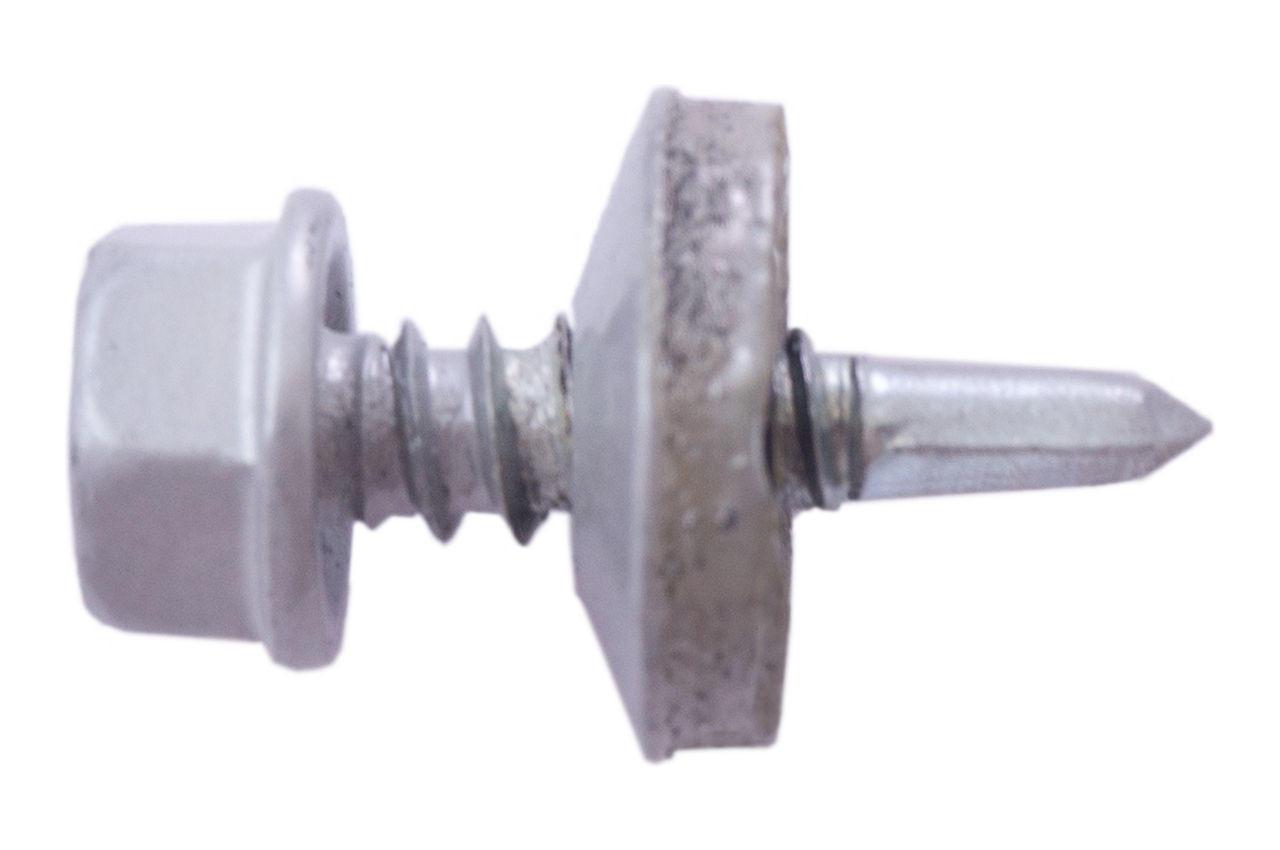 Саморез кровельный Apro - 4,8 x 19 мм RAL 9006 (50 шт.)