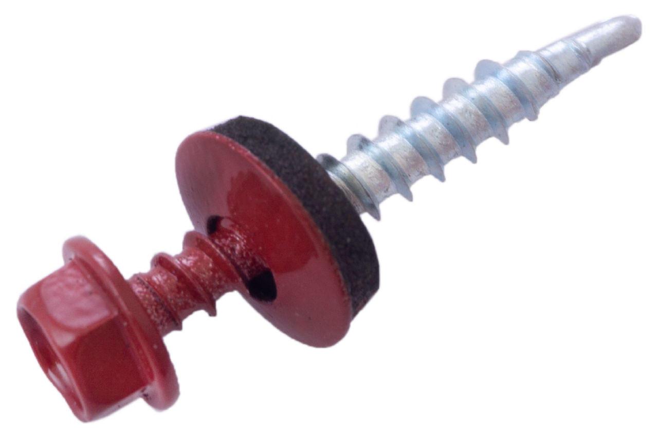 Саморез кровельный Apro - 4,8 x 35 мм RAL 3011 (50 шт.)
