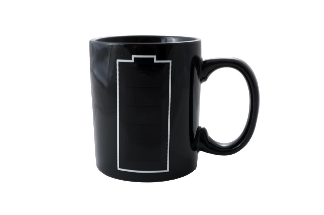 Чашка керамическая хамелеон Elite - 300 мл батарейка