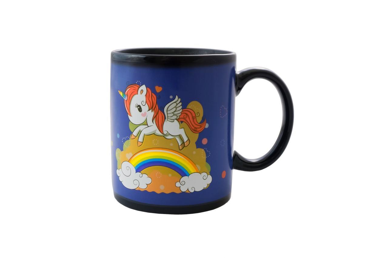 Чашка керамическая хамелеон Elite - 300 мл единорог